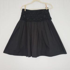 Basil & Maude Black & Beaded Skirt Women's Size 4